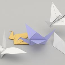 origami birds 3D Model