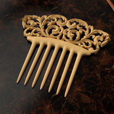 Floral swirls comb 3D Model