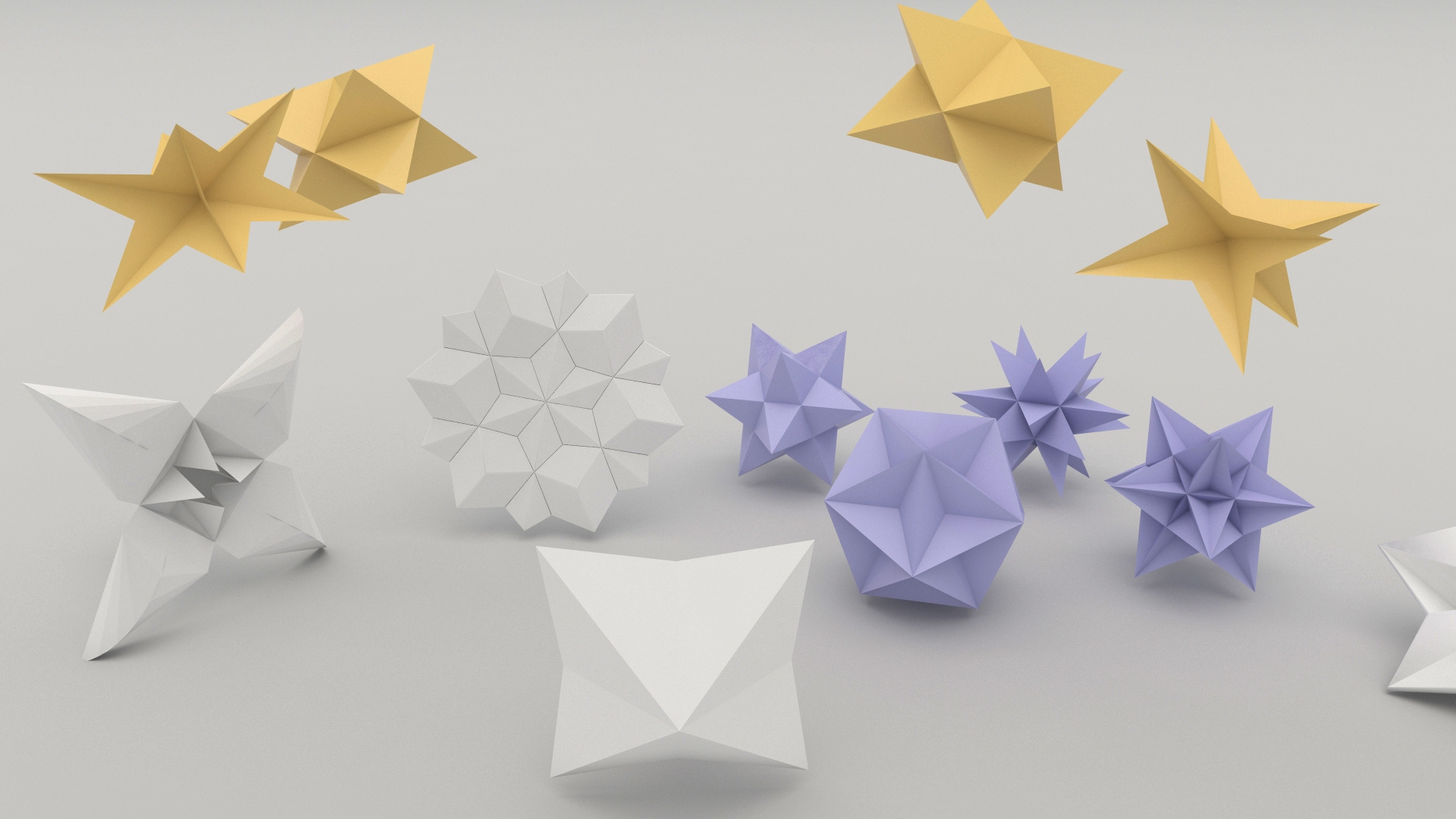 Paper flower origami 3d model highend3dcom psychologyarticlesfo paper flower origami 3d model highend3dcom mightylinksfo