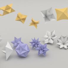 origami flower 3D Model