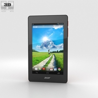 Acer Iconia One 7 B1-730 Red 3D Model