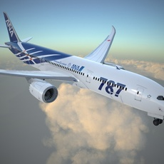 Boeing 787 Dreamliner ANA airlines 3D Model
