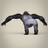 17 37 24 24 low poly realistic gorilla 04 4