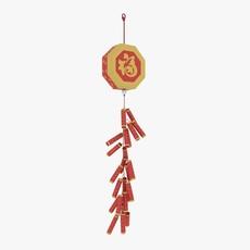 Chinese Firecracker 3D Model