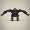 17 38 02 236 low poly realistic gorilla 02 4