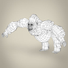 17 38 06 338 low poly realistic gorilla 08 4