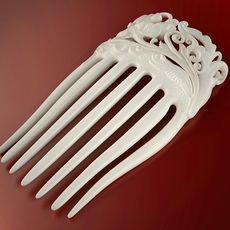 Flower hair comb (printable) 3D Model