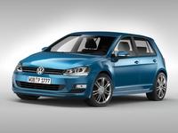 Volkswagen Golf MK7 (2013) 3D Model