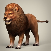 Game Ready Realistic Lion 3D Model