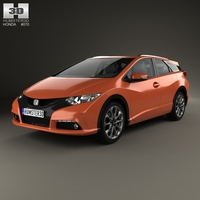 Honda Civic tourer 2014 3D Model