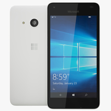 Microsoft Lumia 550 White 3D Model
