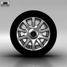 Rolls-Royce Phantom Wheel 21 inch 004 3D Model