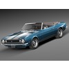 Chevrolet Camaro Z28 Convertible 1967 3D Model