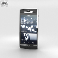 Vertu Signature Touch Jet Leather 3D Model