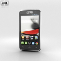 Alcatel One Touch Evolve Black 3D Model