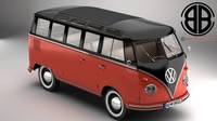 Volkswagen Type 2 Samba 1959 3D Model