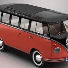 Volkswagen Type 2 Samba 1959 3D Model
