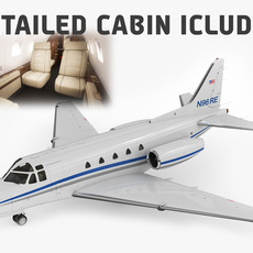 Sabreliner 60 - 65 with interior 3D Model