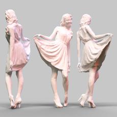 Girl Posing 3 3D Model