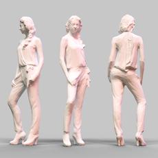 Girl Posing 2 3D Model