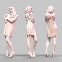 Girl Posing 4 3D Model