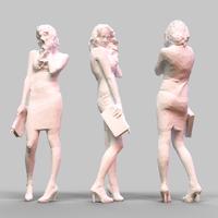 Girl Posing 5 3D Model