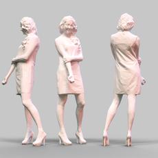 Girl Posing 6 3D Model
