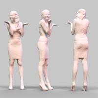 Girl Posing 7 3D Model