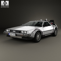 DeLorean DMC-12 (BTTF) 1981 3D Model