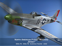 North American P-51D Mustang - Stinky 3D Model
