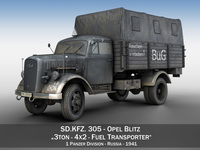 Opel Blitz 3ton - Fuel Transporter 3D Model