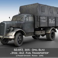 Opel Blitz 3ton - Fuel Transporter 3D Model