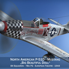 North American P-51D Mustang - Big Beautiful Doll 3D Model