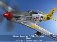 North American P-51D Mustang - Marie 3D Model