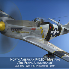 North American P-51D Mustang - The Flying Undertaker 3D Model