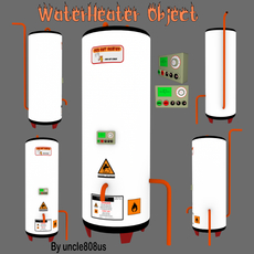 Water Heater Object 3D Model
