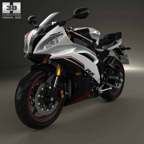 Yamaha YZF-R6 2014 3D Model