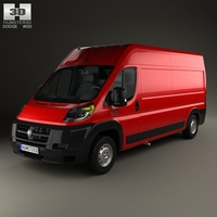 Dodge Ram Pro Master Cargo Van L3H2 2013 3D Model