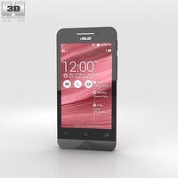 Asus Zenfone 4 Cherry Red 3D Model