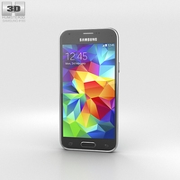 Samsung Galaxy S5 mini Electric Blue 3D Model