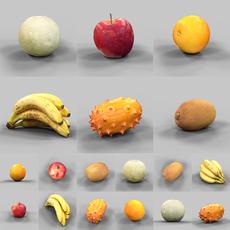 6 Fruits 3D Model