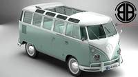 Volkswagen Type 2 Samba 1963 3D Model