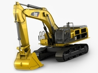 Excavator Caterpillar CAT 390D 3D Model