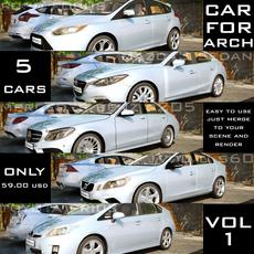CAR4ARCH VOL.1 : CITY SEDAN CARS COLLECTION 3D Model