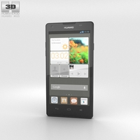 Huawei Ascend G700 Black 3D Model