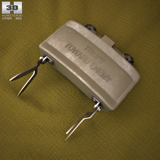 M18 Claymore mine 3D Model