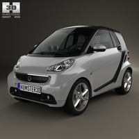 Smart Fortwo coupe 2012 3D Model