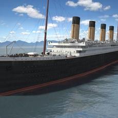 RMS Titanic cruise ship 3D Model