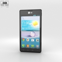 LG Optimus F5 (AS870) Black 3D Model