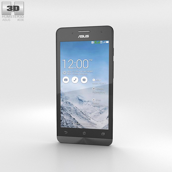 Asus Zenfone 5 Pearl White 3D Model
